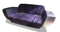 Sofá de diseño original / de lona / de acero inoxidable / para hotel