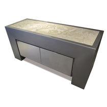 Aparador de diseño original / de acero inoxidable / de piedra natural / a medida