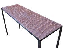 Mesa consola / moderna / de piedra reconstituida / rectangular