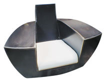 Sillón de diseño original / con ruedas camufladas / con reposabrazos / a medida
