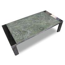 Mesa de centro / moderna / de piedra reconstituida / de acero inoxidable