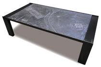 Mesa de centro / moderna / de metal / de piedra reconstituida