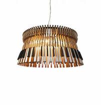 Lámpara araña de diseño original / de madera / de incandescencia / hecha a mano