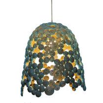 Lámpara suspendida / de diseño original / de cartón / de interior
