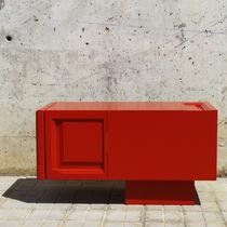 Mueble de televisión de estilo moderno / lowboards / a medida / de madera lacada