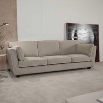 Sofá moderno / de tela / 3 plazas / beis