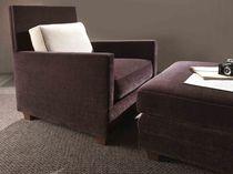 Sillón moderno / de textil / marrón