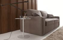 Sofá cama / moderno / de terciopelo / de cuero