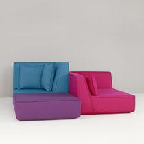 Sofá modular / de esquina / moderno / de tejido