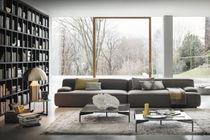 Sofá modular / moderno / de tejido / gris