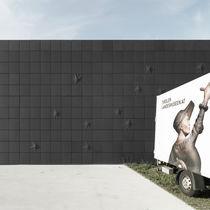 Revestimiento de fachada de material compuesto de cemento y vidrio / de hormigón / texturado / arenado