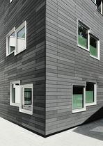 Revestimiento de fachada de hormigón reforzado con fibra / pintado / de panel