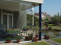 Tabique corredero / acristalado / para uso residencial / sin soportes verticales