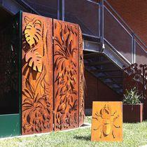 Biombo de diseño original / de acero / para oficina / para centro de estética