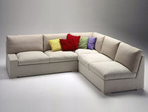 Sofá de esquina / modular / moderno / de tejido