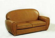 Sofá clásico / de cuero / 2 plazas / marrón