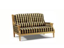 Sofá de estilo / de tejido / 2 plazas / multicolor