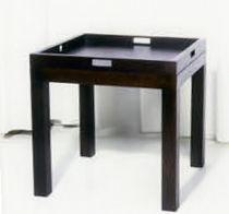 Mesita auxiliar clásica / de madera / rectangular