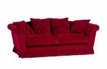 Sofá clásico / de tejido / 2 plazas / rojo