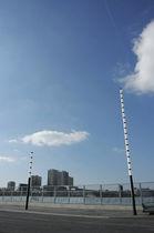Columna luminosa moderna / de metal / LED / para espacio público