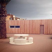 Mesa de pícnic / moderna / de piedra reconstituida / de hormigón