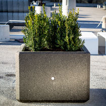 Jardinera de mármol / de piedra natural / cuadrada / moderna