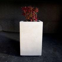 Jardinera de mármol / de piedra natural / rectangular / cuadrada