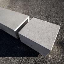 Banco público / moderno / de mármol / de piedra reconstituida
