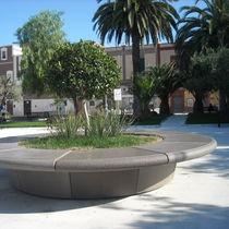 Jardinera de mármol / de piedra natural / redonda / moderna