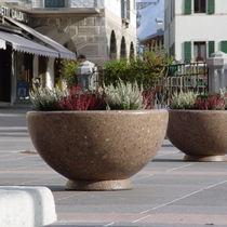 Jardinera de hormigón / de mármol / de piedra natural / redonda