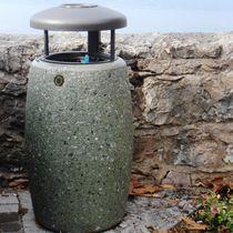 Cubo de basura público / de acero inoxidable / de acero / de hormigón