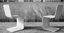 Silla de visita moderno / de hormigón / cantilever / para edificio público
