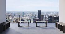 Taburete de diseño minimalista / de hormigón / para uso profesional / de exterior