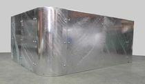 Jardinera de acero galvanizado / rectangular / moderna / para espacio público