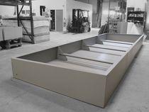 Jardinera de acero / a medida / modular / para espacio público