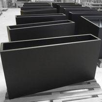 Jardinera de material compuesto / cuadrada / rectangular / a medida