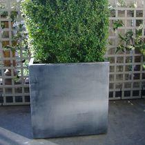 Jardinera de fibrocemento / de zinc / cuadrada / rectangular