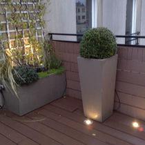 Jardinera de fibrocemento / cuadrada / moderna / para espacio público