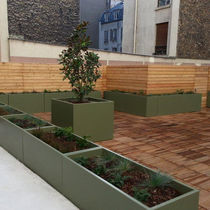 Jardinera de fibrocemento / cuadrada / rectangular / a medida