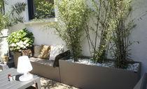 Jardinera de fibrocemento / rectangular / a medida / moderna