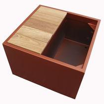 Jardinera de madera / de fibrocemento / rectangular / cuadrada