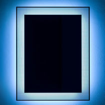 espejo de pared moderno rectangular con luz led