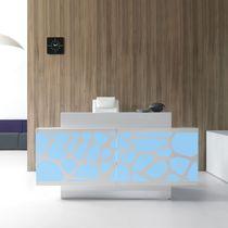 Mostrador de recepción de Plexiglas® / de metal / laminado / de vidrio