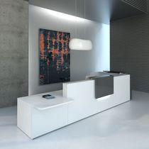 Mostrador de recepción de esquina / modular / de melamina