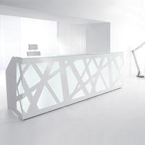 Mostrador de recepción de Plexiglas® / de metal / de vidrio / de MDF