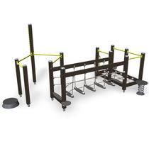 Recorrido de obstáculos para instalación deportiva