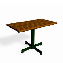 Mesa clásica / de pino / de acero / rectangular