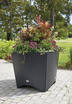 Jardinera de acero / cuadrada / de diseño / para espacio público