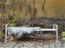 Banco público / de diseño escandinavo / de madera