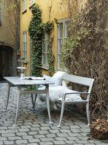 Mesa de diseño escandinavo / de madera / rectangular / para escuela
